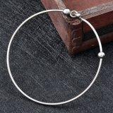 ステンレス鋼調節可能なワイヤー腕輪の方法最小主義のビードの魅力のブレスレット