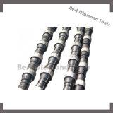 zaag van de Draad van de Steengroeve van de Kabel van de Draad van de Diamant van 11.5mm de Sinterende Scherpe die op de Machine van de Zaag van de Draad van de Diamant wordt gebruikt