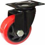 Roue fixe de chasse de PVC de couleur rouge de 3/4/5 pouce