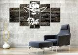 5 قطعات [ستر ور] لون موسيقى سيّد [يودا] جدار فنية صورة منزل زخرفة يعيش غرفة نوع خيش طبق جدار صورة طباعة على نوع خيش