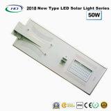 Tudo-em-um LED Solar Luz Rua 50W