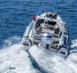 шлюпка нервюры рыбацкой лодки стеклоткани 10persons твердая раздувная
