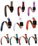Heißes verkaufendes echtes Leder-Doppelt-Verpackungs-Band für Apple-Uhr