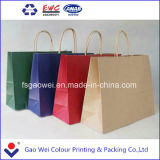 Kraft Paper의 서류상 Customs Printed Craft Paper Straw Bag Made