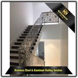 Pasamano simple de la escalera del acero inoxidable del estilo de la decoración de interior