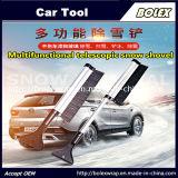 Аксессуары для автомобиля многофункциональных телескопической снега лопаты, щетка лопаты резиновый валик 2 в 1