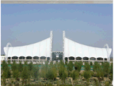 membrana impermeabile di architettura di 10000n/5cm PTFE di alta qualità rivestita della membrana