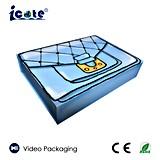 Rectángulo video colorido del LCD del cosmético de 6.0 pulgadas para la promoción