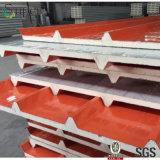 el panel de emparedado de la PU de 100m m para el revestimiento del material para techos y de la pared