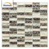 돌 수정같은 혼합 색깔 얼음 균열 Mozaik 도와 연회 유리 모자이크