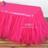Commerce de gros prix d'usine belle jupe Rectangle Chiffon de table pour la vente