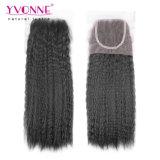 Yvonne-brasilianische Haar-Großhandelsbündel mit Spitze-Schliessen-verworrenem geradem