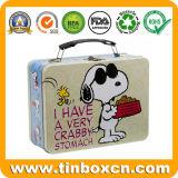 ハンドルが付いている子供のハンドバッグの形の金属の昼食のギフトの錫ボックス