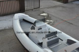 Liya頑丈なHypalon 7.5mのガラス繊維のパンガ刀の小屋のボート(HYP750)