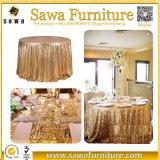 둥근 결혼식 Sequin 테이블 피복