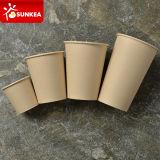 Taza de papel de la fibra del café de bambú disponible de la pulpa