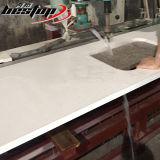 Controsoffitto bianco puro della pietra del quarzo del ritaglio del dispersore di qualità e di servizio di Bestop