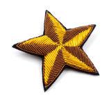 Bela Star bordados feitos à mão com a Índia Patch de seda