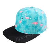 Шлем крышки печати фламингоа лета Brim изготовленный на заказ Snapback плоский