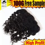 Frontal brasileño sin procesar barato del cordón del producto de pelo de Remy 100
