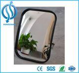 O espelho côncavo redondo, espelha o tráfego côncavo