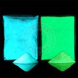 Resplandor del polvo del fósforo de cielo del color brillante del azul y del color verde en la pintura fotoluminiscente oscura del pigmento luminoso del polvo
