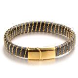 Bracelet de bracelet de cuir de bijou de corps de mode de bijou de Shineme (BL2876)