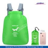 Luz de dobragem de desportos ao ar livre mochila impermeável de saco com 4 tipos
