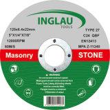 mole con centro ribassato di 125X6.4X22.2mm per la pietra