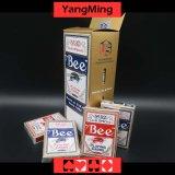 Tarjeta que juega del póker dedicado del casino de la abeja de Estados Unidos para los juegos de juego del casino con el color rojo y azul (YM-PC01)