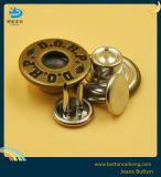 OEM-Denim латунные кнопки с двумя контактами джинсы металлические кнопки