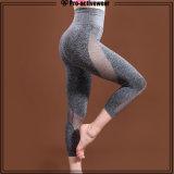 Caneleiras do desgaste da ioga das mulheres do desgaste dos esportes das mulheres da fábrica do OEM e calças da ioga