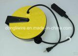 UL/сертифицированных ETL 30FT складной металлический шнур с мотовила 3 розеток