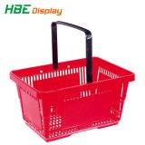 Panier de roue de magasinage en plastique pour les nouveaux magasins et boutiques