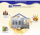 Pequeña cadena de producción de máquina del relleno en caliente del jugo de la botella