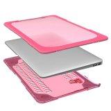 Met rubber bekleede Duidelijke Harde Shell van het Geval Dekking met Kickstand voor MacBook Pro