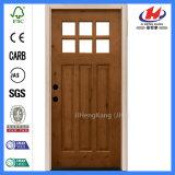 Diseño de madera indio de madera de la puerta del roble blanco