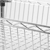 NSFの承認のクロム金属線の台所バスケットラックトロリー