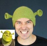 Monster Shrek Diseño Creativo la tapa de lana tejida a mano Hat