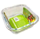 470ml de vierkante half Verdeelde Hittebestendige Doos 21113D2 van de Lunch van de Container van de Lucht van het Glas Strakke