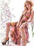 De in het groot Kleding van de Dames van de Zomer van de Manier Elegante Sexy Moderne Roze Zoete