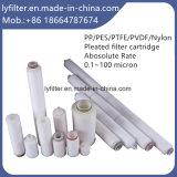 Micron PP/PES/PTFE/cartouche de filtre plissé en nylon pour le traitement de l'eau