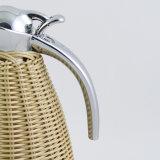 Rattan Handmade che sposta la boccetta del Thermos di vuoto dell'acciaio inossidabile