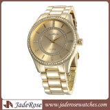 Роскошь золота закрывается часы Quartz наручные часы браслет моды смотреть повседневный смотреть