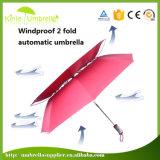 Автомобиль раскрывает 2 доказательство ветра зонтика гольфа ручки створки 28inch пластичное