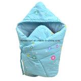 아기는 목욕을%s, 냉난방 장치가 있는 온난한, 총괄적인 잠 자루 두꺼운 양털 싸는 담요에 의하여 분리된 다리를 부드럽게 가을 Esg10383 싼다