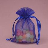Sacchetto del regalo del Drawstring del Organza, sacchetto non tessuto dell'imballaggio dei monili (GZHY-dB-002)
