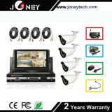 4 canaux de caméras HD 1080p avec moniteur LCD 7 pouces Kit DVR