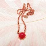 De elegante Halsband van de Parel van de Steen van de Kleur Rode voor online het Winkelen