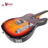 型によって苦しめられるSunburstエレキギター(EGT10V)